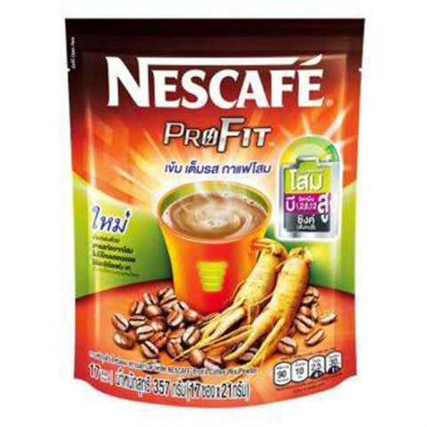 NESCAFE PROFIT COFFEE MIX POWDER WITH GINSENG EXTRACT SUGAR FREE 17STICKS