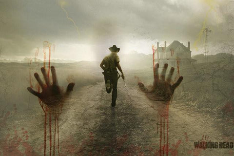 The Walking Dead Silk Canvas Wall Poster TV Series Pictures and Printings10 - 32x48 inch (80x120cm)