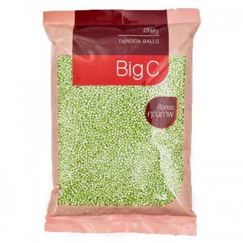 BIG C TAPIOCA SMALL GREEN BALL 500 G. - THAI ETC GROUP