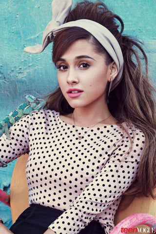 Ariana Grande Art Silk Poster Hot American Music Singer Picture Bedroom Decor Lovely Girl 02 - 13x20 inch (33x50cm)