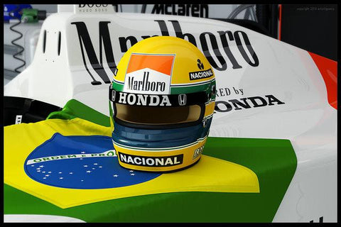 Ayrton Senna da Silva Silk Wall Poster Boy Home Room Decor F1 Car Racing Pictures Birthday Gift 02 - 20x30 inch (50x75cm)