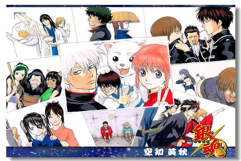 GINTAMA Anime Art Silk Poster Living Room Wall Decor Birthday Gift 010 - 20x30 inch (50x75cm)
