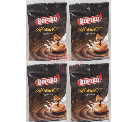 KOPIKO Cappuccino Delicious Rich real Coffee hard Candy 4 Packs (36 tablets)