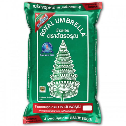 ROYAL UMBRELLA 100% JUSMIN RICE 5 KG. - THAI ETC GROUP