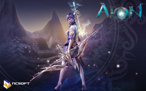 Aion Game Widescreen Game Silk Wall Art Poster Print - 20x30 inch (50x75cm)