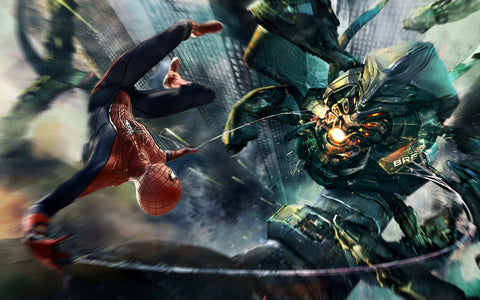 Amazing Spider Man Boss Fight Game Silk Wall Art Poster Print - 13x20 inch (33x50cm)