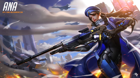 Ana Overwatch Game Silk Wall Art Poster Print - 32x48 inch (80x120cm)