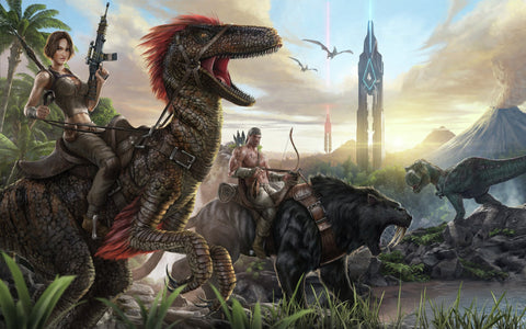 Ark Survival Evolved Game Silk Wall Art Poster Print - 32x48 inch (80x120cm)