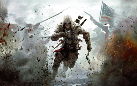 Assassin's Creed 3 2012 Game Game Silk Wall Art Poster Print - 13x20 inch (33x50cm)