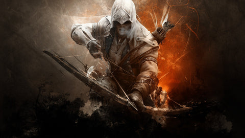 Assassins Creed 3 Connor Game Silk Wall Art Poster Print - 13x20 inch (33x50cm)