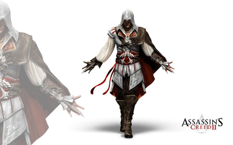 Assassin's Creed II Game Silk Wall Art Poster Print - 13x20 inch (33x50cm)