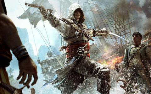 Assassin's Creed IV Black Flag Game Silk Wall Art Poster Print - 13x20 inch (33x50cm)
