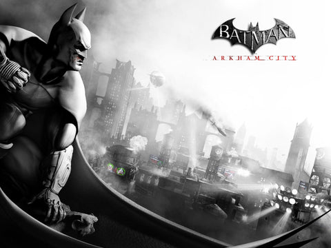 Batman Arkham City (2011) Game Game Silk Wall Art Poster Print - 13x20 inch (33x50cm)