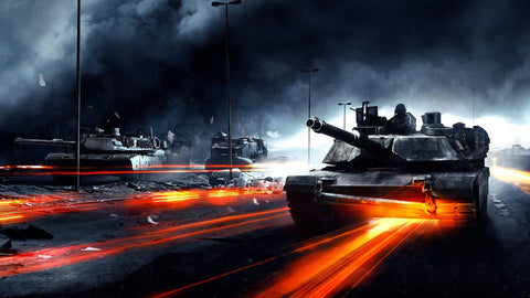 Battlefield 3 Tanks Game Silk Wall Art Poster Print - 13x20 inch (33x50cm)