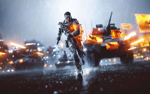 Battlefield 4 4K 8K Game Silk Wall Art Poster Print - 13x20 inch (33x50cm)