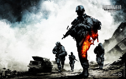 Battlefield Bad Company 2 Onslaught Game Silk Wall Art Poster Print - 13x20 inch (33x50cm)