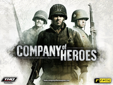 Company of Heroes Game Silk Wall Art Poster Print - 13x20 inch (33x50cm)