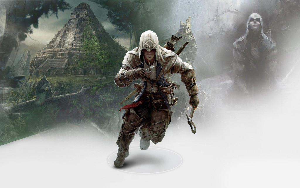 Connor In Assassin S Creed 3 Game Silk Wall Art Poster Print