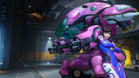 D Va Overwatch Game Silk Wall Art Poster Print - 32x48 inch (80x120cm)