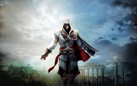 Ezio Assassins Creed The Ezio Collection 4K Game Silk Wall Art Poster Print - 13x20 inch (33x50cm)