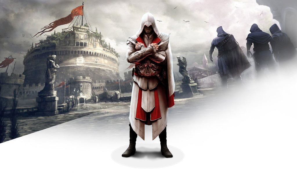 Ezio In Assassin S Creed Brotherhood Game Silk Wall Art Poster