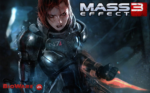 Female Shepard in Mass Effect 3 Game Silk Wall Art Poster Print - 20x30 inch (50x75cm)