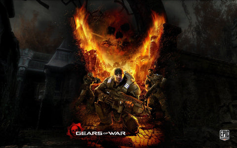 Gears of War Game Game Silk Wall Art Poster Print - 13x20 inch (33x50cm)