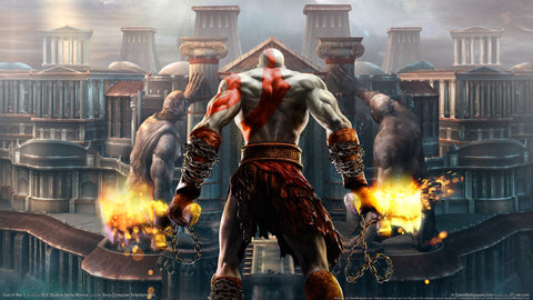 God of War 2 HD Game Silk Wall Art Poster Print - 32x48 inch (80x120cm)