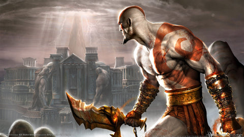 God of War 2 PS2 Game Game Silk Wall Art Poster Print - 32x48 inch (80x120cm)