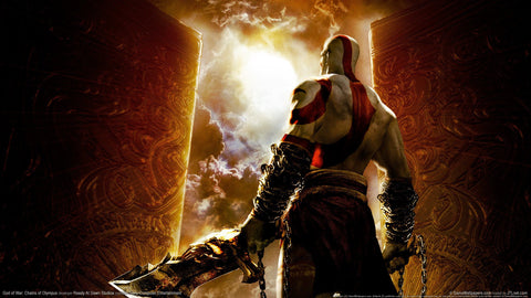God of war chains of olympus Game Silk Wall Art Poster Print - 32x48 inch (80x120cm)