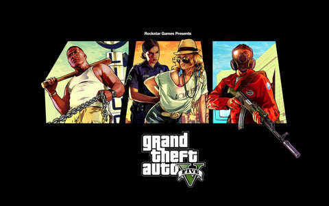 Grand Theft Auto V 2013 Game Game Silk Wall Art Poster Print - 13x20 inch (33x50cm)