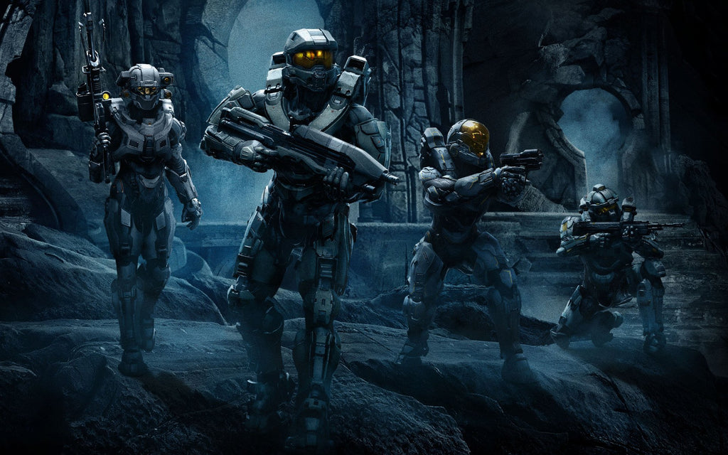 Halo 5 Guardians Team Chief Game Silk Wall Art Poster Print - 32x48 ...