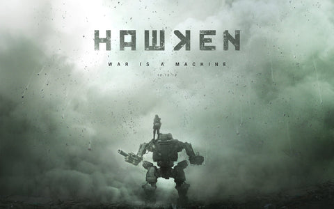 Hawken War Is A Machine Game Silk Wall Art Poster Print - 13x20 inch (33x50cm)