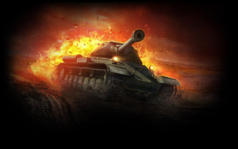 Heavy Tank IS 4 World of Tanks Game Silk Wall Art Poster Print - 13x20 inch (33x50cm)