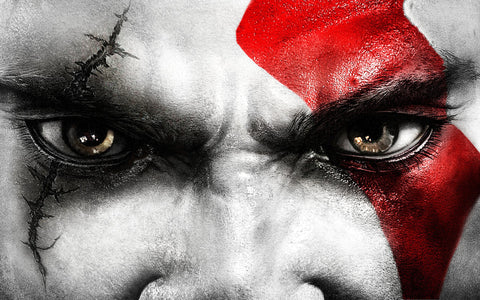 Kratos Eyes Game Silk Wall Art Poster Print - 32x48 inch (80x120cm)