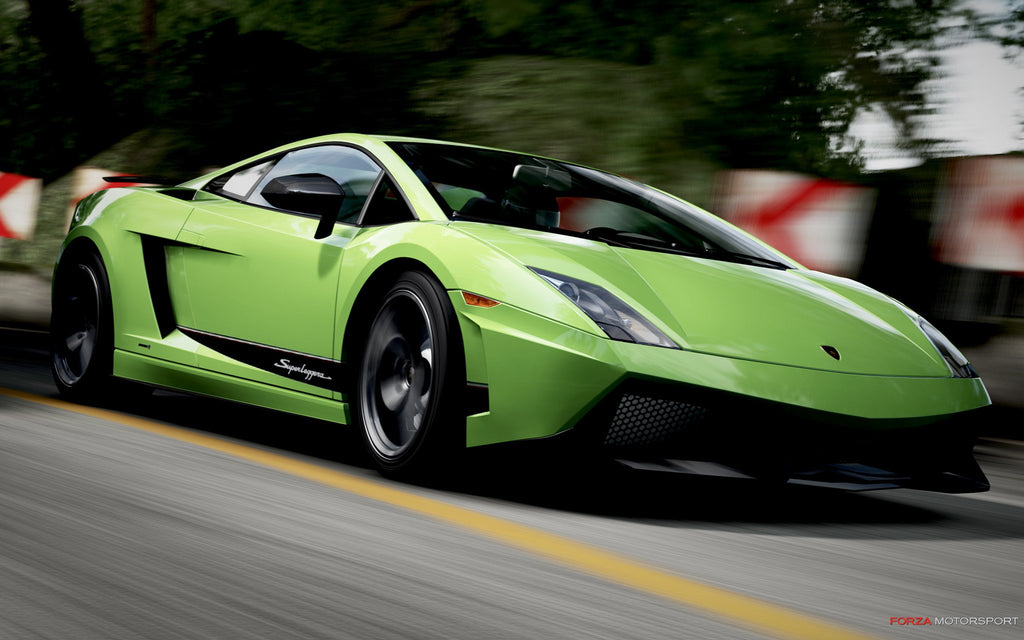 Lamborghini Gallardo In Forza Motorsport 4 Game Silk Wall Art Poster