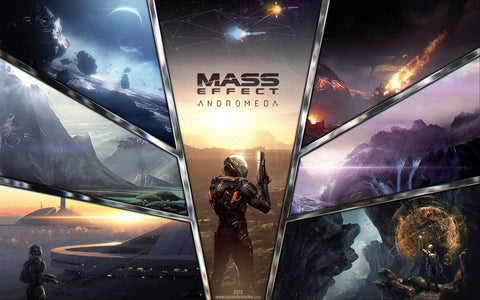 Mass Effect Andromeda Game Silk Wall Art Poster Print - 32x48 inch (80x120cm)