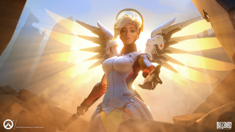 Mercy Overwatch Game Silk Wall Art Poster Print - 32x48 inch (80x120cm)
