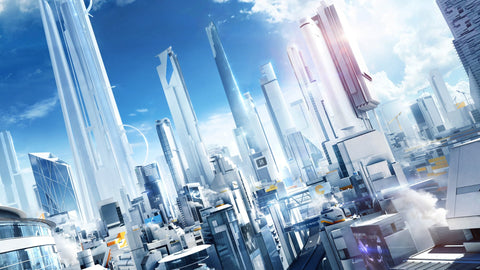 Mirror's Edge City of Glass Game Silk Wall Art Poster Print - 32x48 inch (80x120cm)