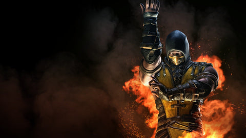 Mortal Kombat X Inferno Scorpion Game Silk Wall Art Poster Print - 32x48 inch (80x120cm)
