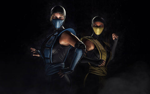 Mortal Kombat XL Sub Zero Scorpion Kosplay Game Silk Wall Art Poster Print - 13x20 inch (33x50cm)