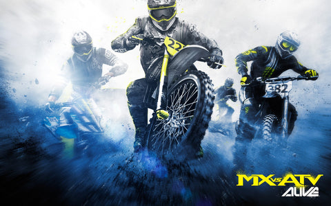MX vs ATV Race Game Silk Wall Art Poster Print - 13x20 inch (33x50cm)