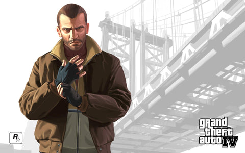 Niko Grand Theft Auto IV Game Silk Wall Art Poster Print - 13x20 inch (33x50cm)
