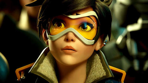Overwatch Agent Tracer Game Silk Wall Art Poster Print - 13x20 inch (33x50cm)