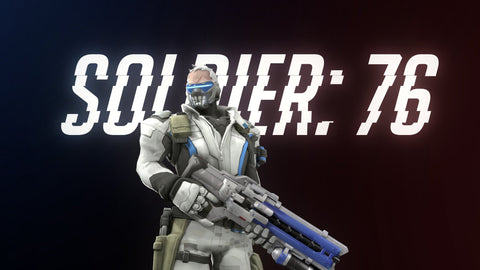 Overwatch Soldier 76 4K Game Silk Wall Art Poster Print - 13x20 inch (33x50cm)