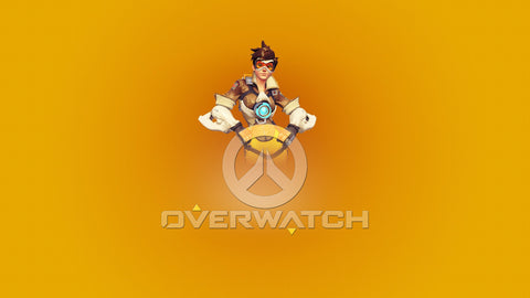 Overwatch Tracer Poster Game Silk Wall Art Poster Print - 13x20 inch (33x50cm)