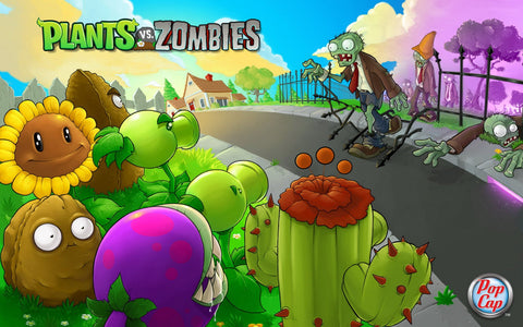 Plants Vs. Zombies Game Silk Wall Art Poster Print - 32x48 inch (80x120cm)