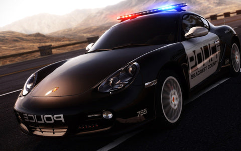 Porsche Cayman in NFS Hot Pursuit Game Silk Wall Art Poster Print - 13x20 inch (33x50cm)