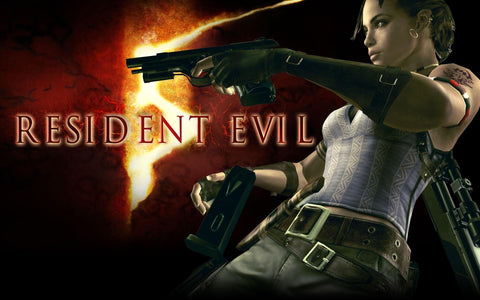 Resident Evil 5 2 Game Silk Wall Art Poster Print - 13x20 inch (33x50cm)