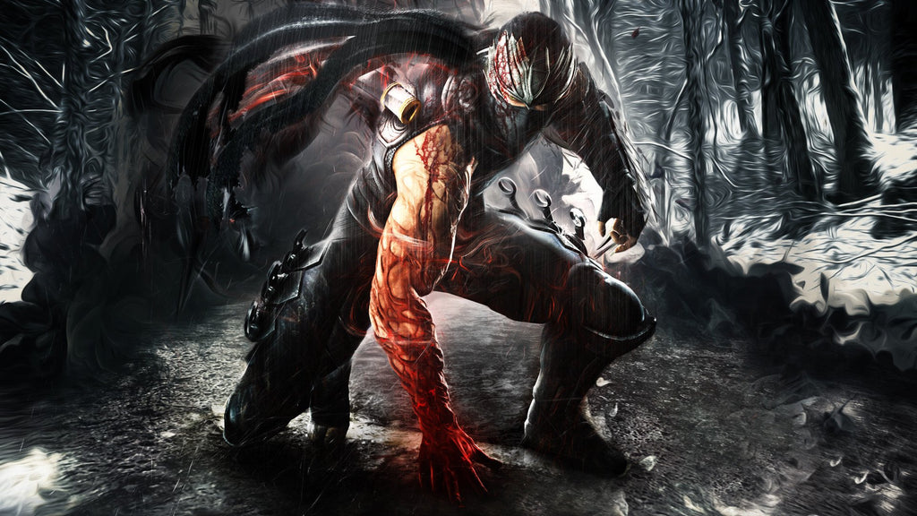 Ryu Hayabusa In Ninja Gaiden 3 Game Silk Wall Art Poster Print